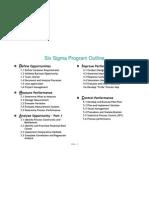Six Sigma Program Outline