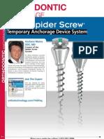 5.ORTHODONTIC ANCHORAGE_Ortho Technology Dealer Product Catalog 2012