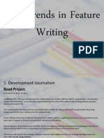 New Trends in Feature Writing