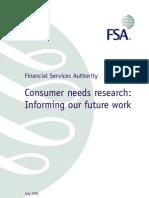 Consumer Needs