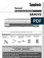 SR90VE DVD VHS Recorder Manual