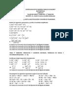 Taller Refuerzo Matematicas 8c