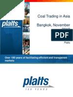 James O'Connell Platts Coal Bangkok 2012