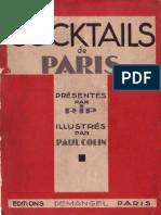 1929 - Cocktails de Paris RIP by Paul Colin, 1929