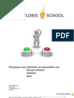 procedure voor selecteren en beoordelen van