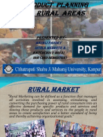PRODUCT PLANNING IN RURAL AREAS