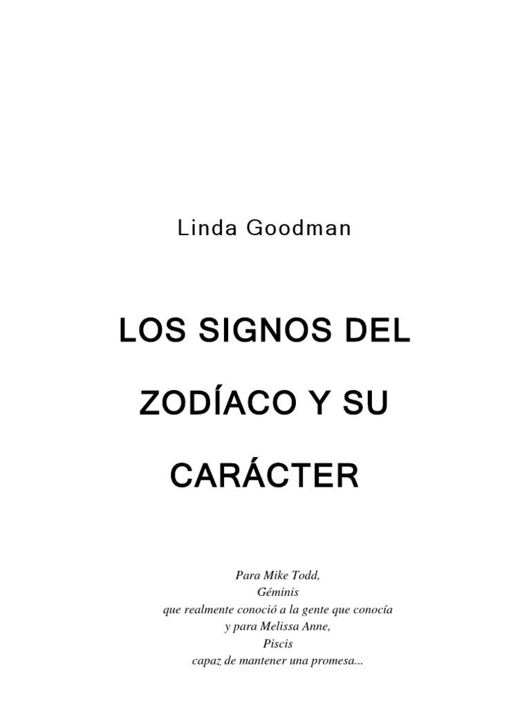 Goodman, Linda - Los signos del zodíaco y su carácter [Libros en ...