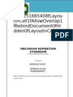 Askep Meconium Aspiration Syndrome