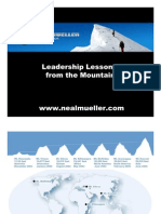 Leadership Lessons from the Mountain
