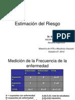 27-10-2012 Dr. Volman Estimacion Del Riesgo