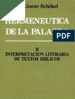 Alonso Schokel Luis - Hermeneutica de La Palabra 02