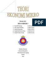 Makalah Ekonomi Mikro