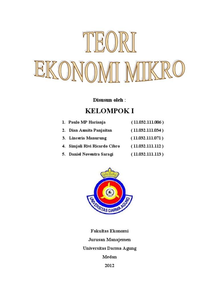 Makalah Teori Ekonomi Mikro