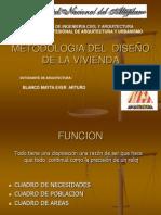 METODOLOGIA DE  DISEÑO DE LA VIVIENDA