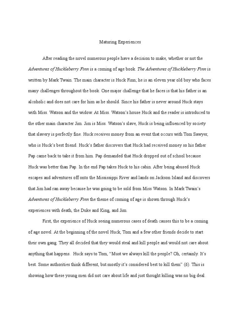 Huck finn essay huckleberry finn adventures of huckleberry finn