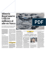 Mineria Ilegal en Nazca