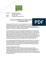 Peagreen Solutions Press Release