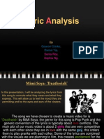 Lyrics Analysis 2