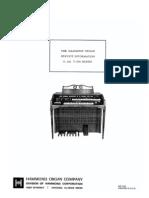 Hammond T100 T200 Organ Service Manual Complete