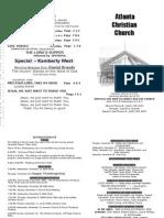 November 18, 2012 Church Bulletin