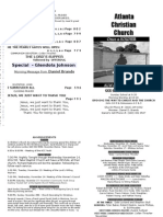 November 11, 2012 Church Bulletin