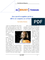 Speech Recognition Article (2007)