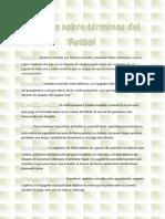 Glosario sobre términos del Futbol