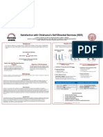 Poster #022 - Satisfaction with Oklahoma's Self-Directed Services (SDS)