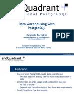 20091106 Bartolini Datawarehousing With Postgresql