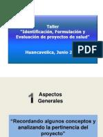 Formulacion de Proyectos de Pre Inversion Presentacion Talleres Mef-salud