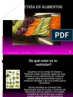 Colorimetría en alimentos  narrada