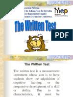 The Written Test[1]