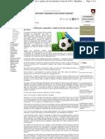 O pedido da FIFA para suspender a vigência de leis durante a Copa de 2014
