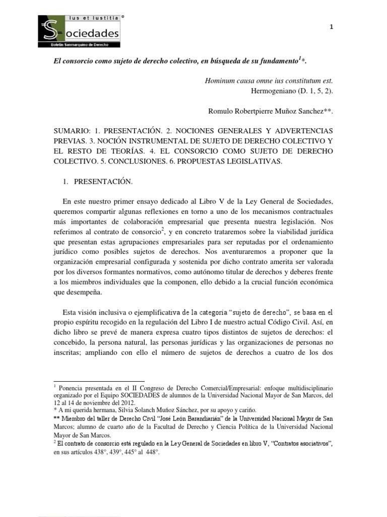e5aafa9afa86 Consorcio -Sujeto de Derecho.