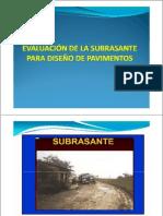 EVALUACIÓN DE LA SUBRASANTE PARTE 1
