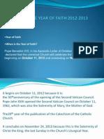 Primer on the Year of Faith 2012-2013
