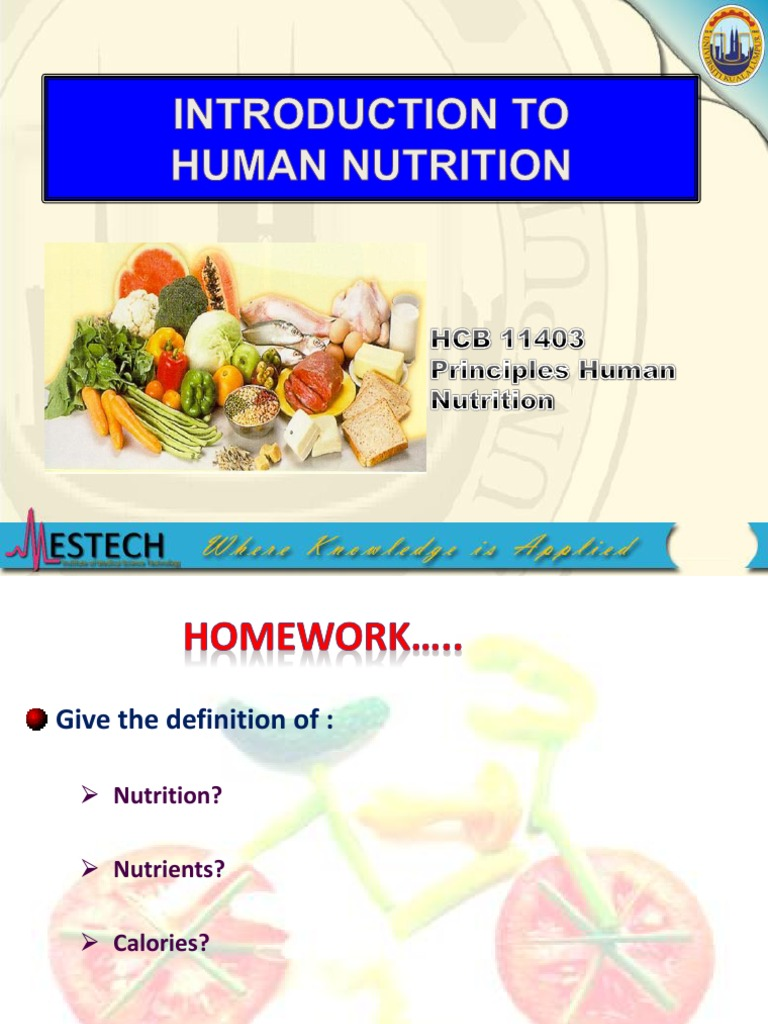 human nutrition | food energy | nutrients
