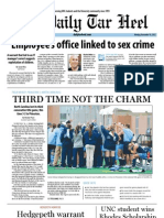 The Daily Tar Heel for Nov. 19, 2012