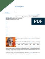 Why Mumbai Needs a Bal Thackeray - Rediff_com India News