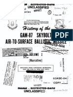 History of the GAM-87 SKYBOLT Air-to-Surface Ballistic Missile