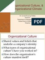 Organizational Culture and Organizational Climate