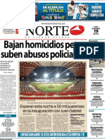 Periodico Norte de Ciudad Juárez 19 de Noviembre de 2012