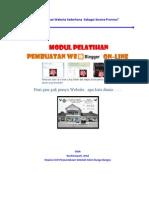 modul membuat website sederhana dengan web(blogger)