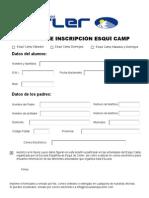 Inscripción Esquí Camp
