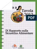 Italia a tavola 2012. IX Rapporto sulla sicurezza alimentare