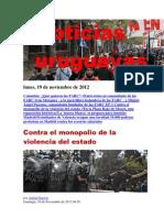 Noticias Uruguayas Lunes 19 de Noviembre Del 2012