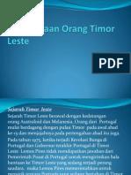 Kebudayaan Orang Timor Leste