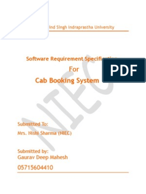 Cab Booking System | Software Testing | Unit Testing