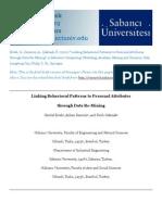 Linking Behavioral Patterns to Personal Attributes through Data Re-Mining