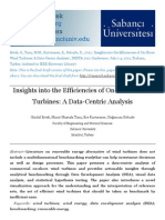 Insights into the Efficiencies of On-Shore Wind Turbines